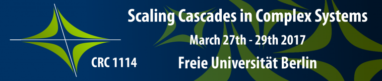 Scaling Cascades in Complex Systems March 27th - 29th 2017 CRC1114